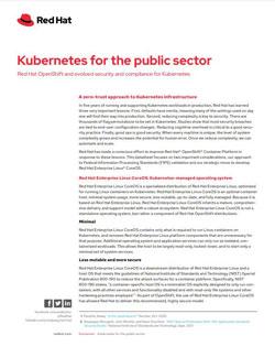 Kubernetes for the Public Sector Datasheet
