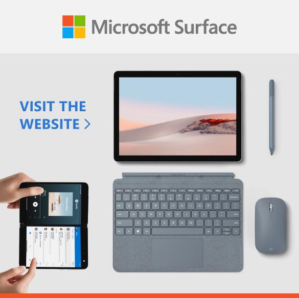 Microsoft Surface sidebar