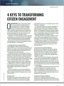 Stage Setter: 4 Keys to Transforming Citizen Engagement