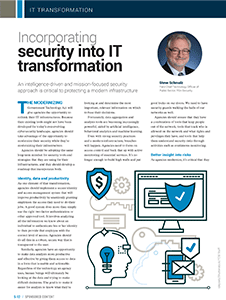 GCN Article: Incorporating Security into IT Transformation