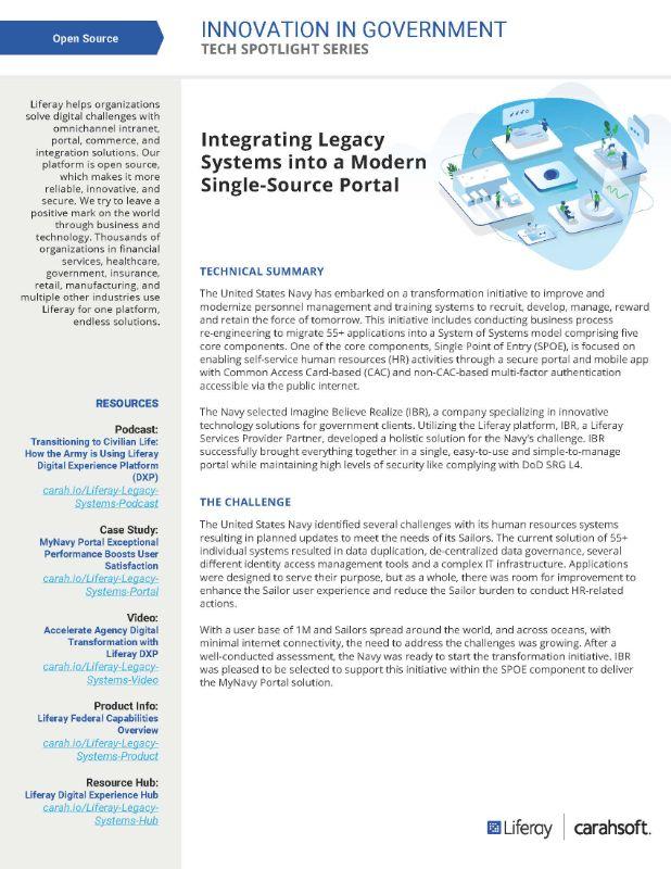 Tech Spotlight Liferay Integrating Legacy Systems Graphic