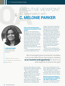 Executive Viewpoint: A Conversation with C. Melonie Parker