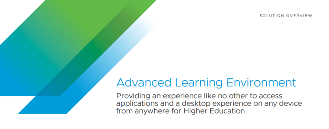 VMware Advanced Learning Environment Solution Brief