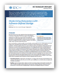 IDC Software-defined Storage report preview