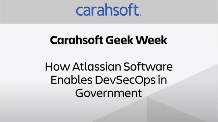 Atlassian Carahsoft webinar