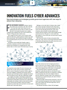 GCN Article: Innovation Fuels Cyber Advances