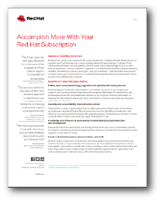 Accomplish More With Your Red Hat Subscription datasheet preview