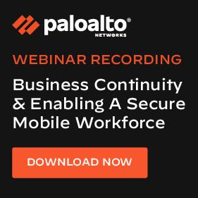 Palo Alto Networks webinar recording