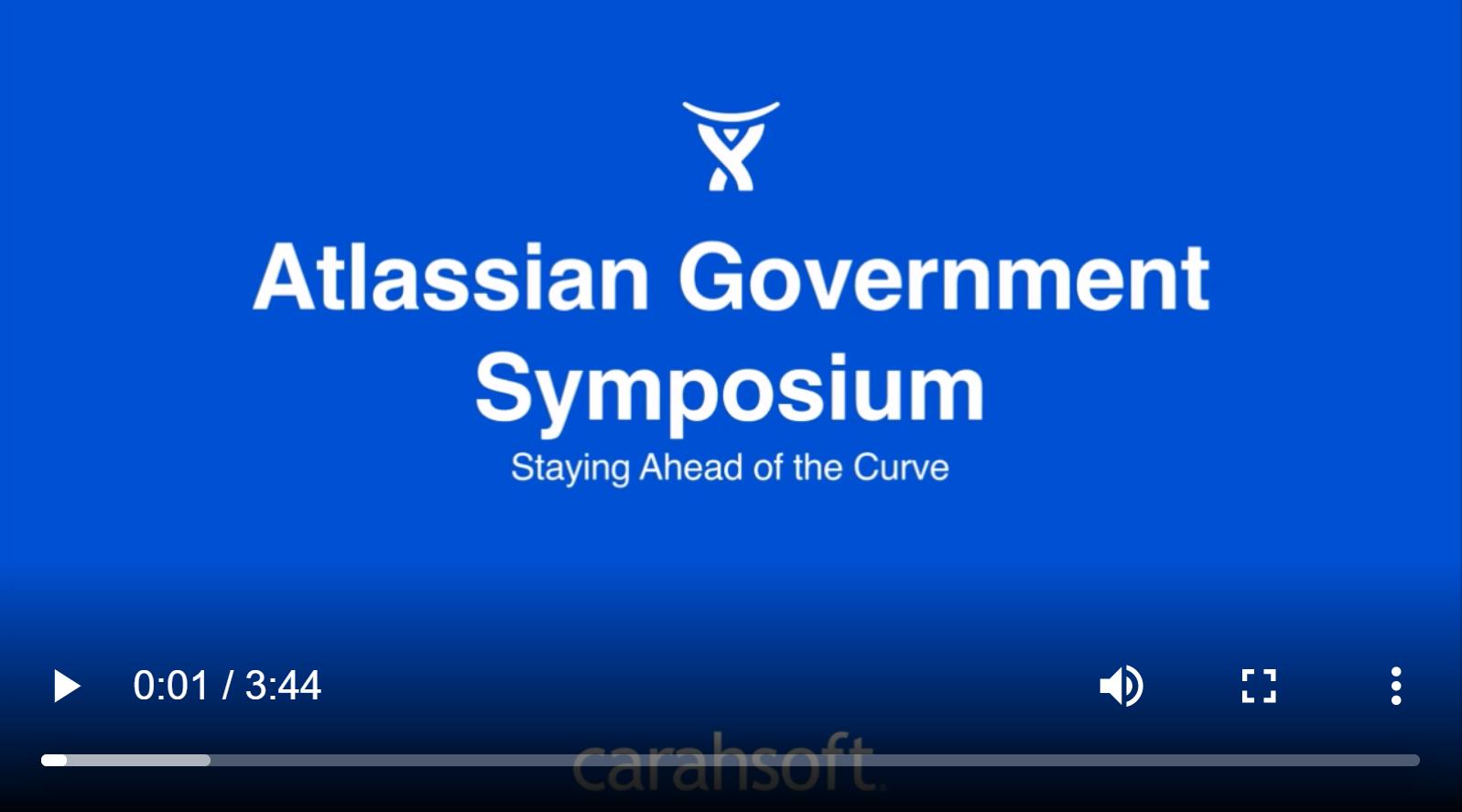Attlassian Gov symposium