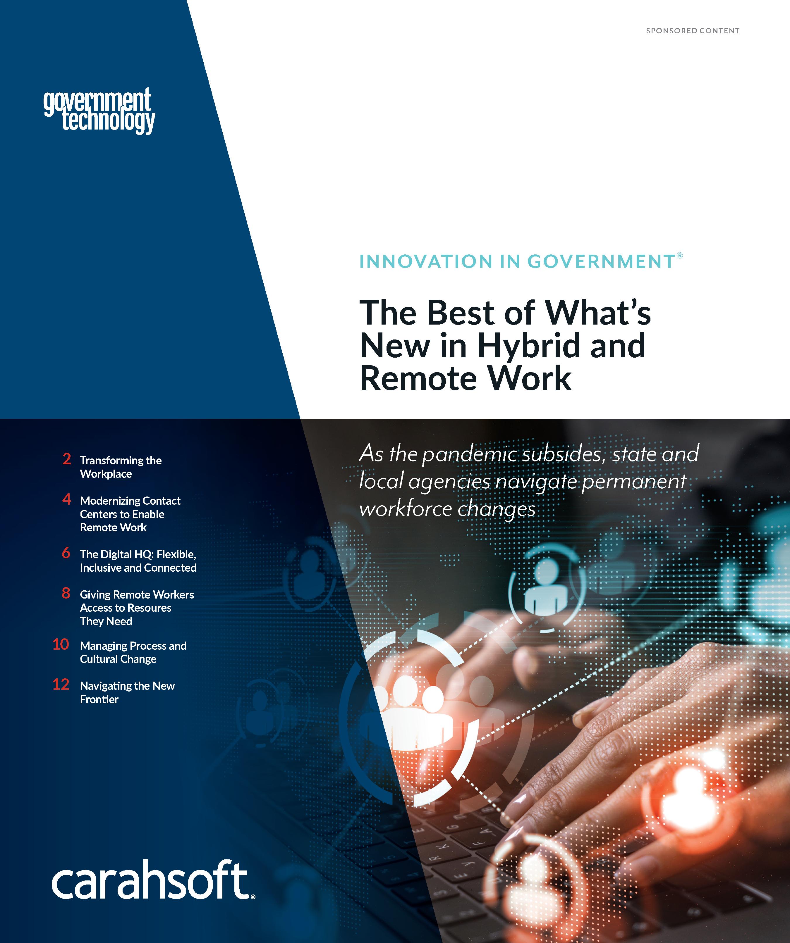 GovTech Remote Work report cover