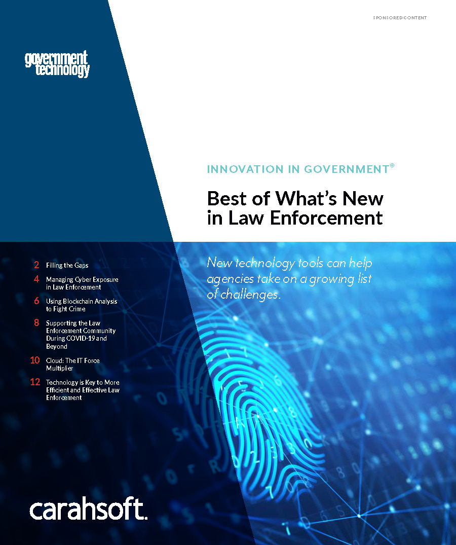 GovTech law enforcement report cover