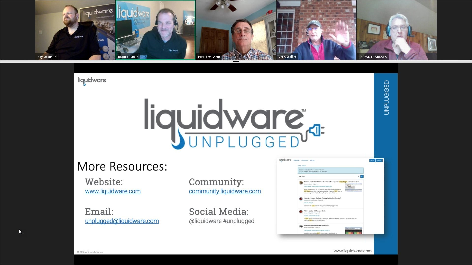 Liquidware unplugged graphic