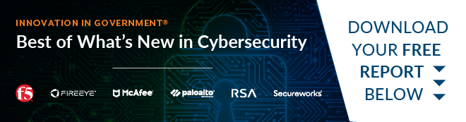 Banner featuring cybersecurity leaders in