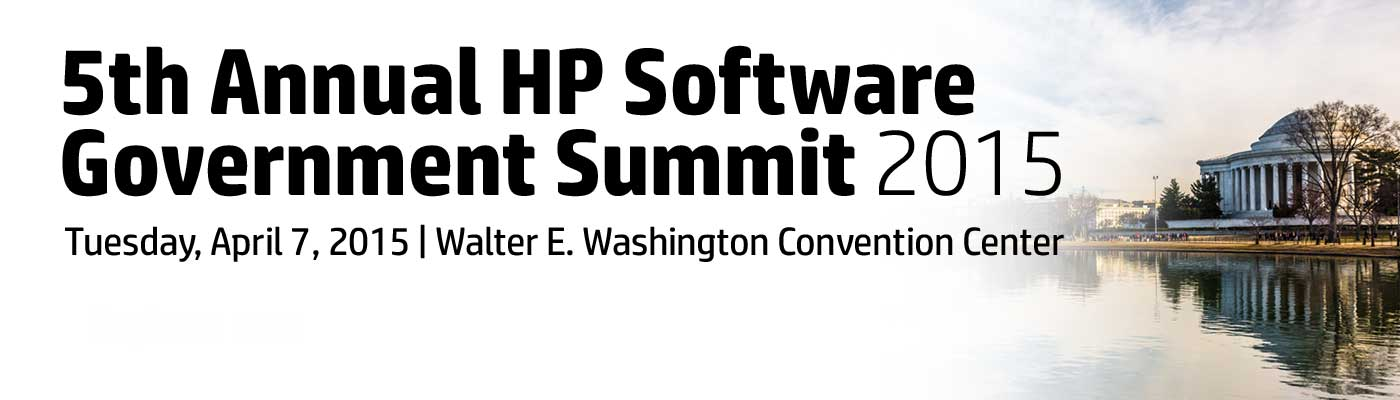 5th Annual HP Software Government Summit 2015