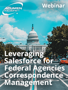 Resource: Webinar - Leveraging Salesforce for Federal Agencies Correspondence Management