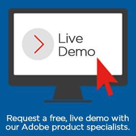 Adobe Live Demo sidebar