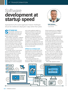 GCN Article: Software Development at Startup Speed