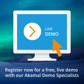 Akamai live demo side banner