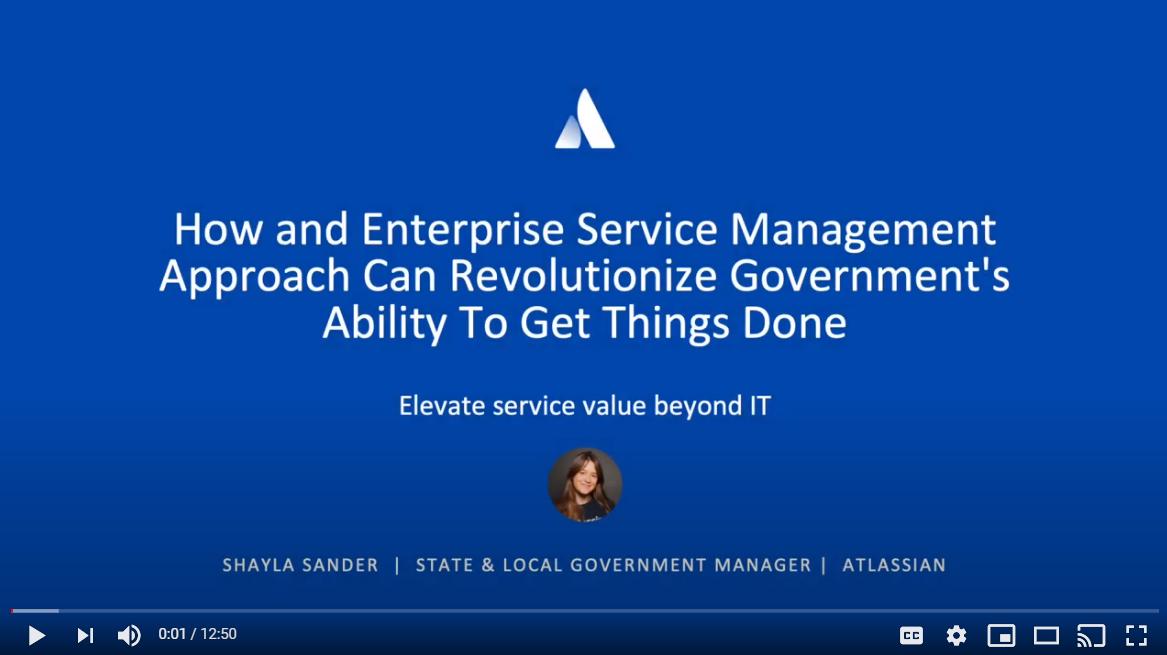 Atlassian Service Management video
