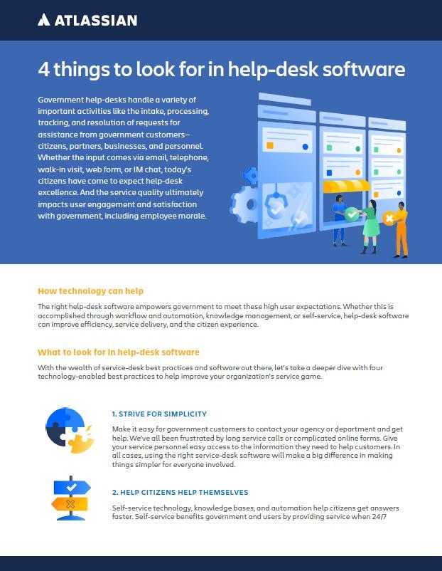 Atlassian help desk infographic