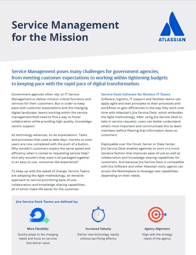 Atlassian service management solutions brief