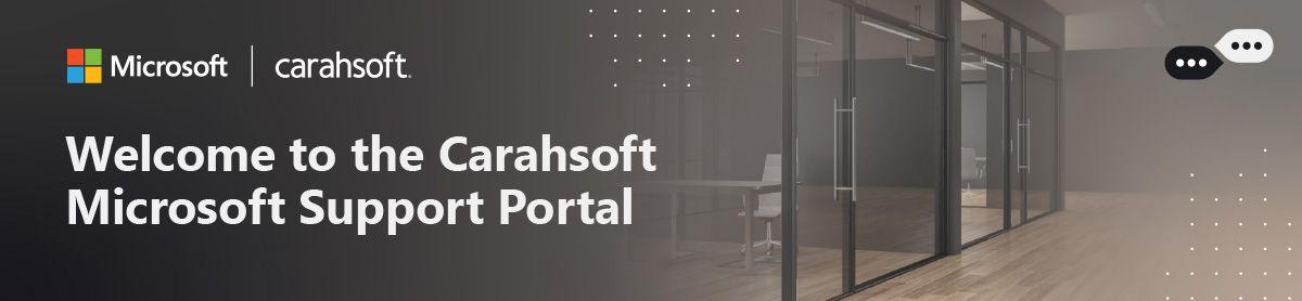 Carahsoft-Microsoft-Support-Portal