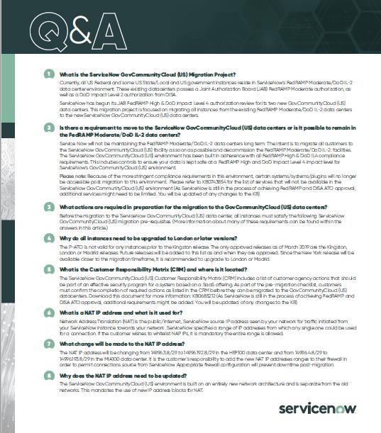 ServiceNow Q&A