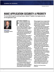 Innovation in Government: F5 Networks and Randy Wood – Make Application Security a Priority