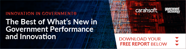 Banner featuring             industry leaders in Government Performance and Innovation report