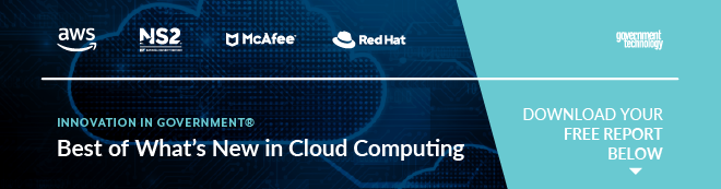 Banner featuring             industry leaders in Cloud Computing report