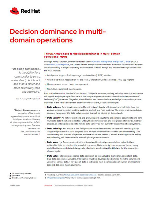 Decision Dominance in Multi-Domain Operations Overview