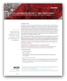 Red Hat Automated Security and Compliance report preview