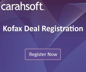 Kofax Deal Registration sidebar