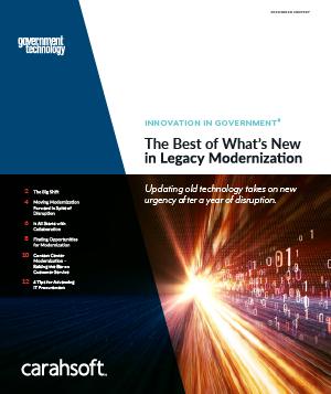 GovTech Legacy Modernization report cover
