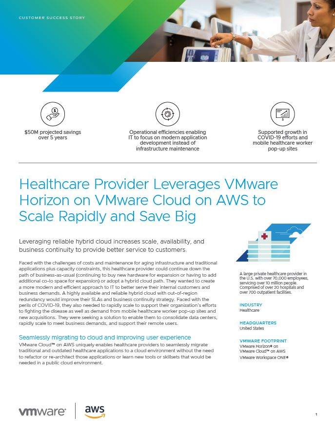 Healthcare Providers Leverage Horizon on VMware <br>Cloud on AWS to Scale Rapidly and Save Big.JPG