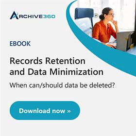 Records Retention and Data Minimization