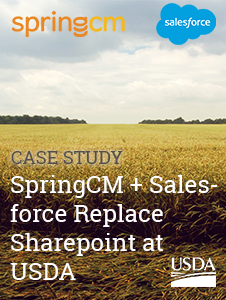 Resource: SpringCM & Salesforce Replace Sharepoint at USDA