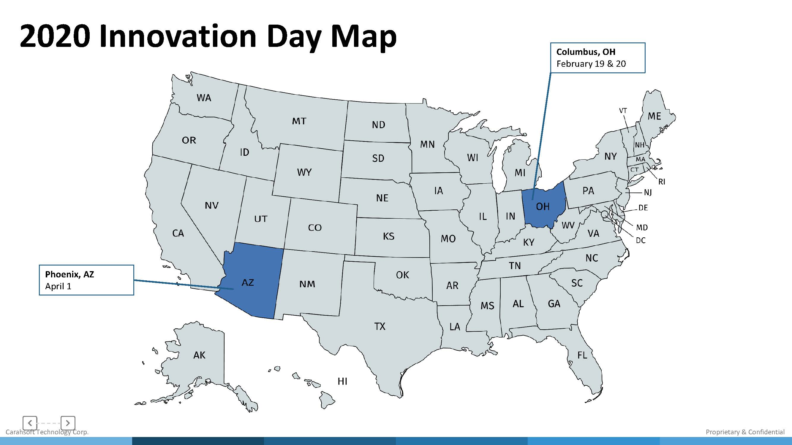 2020 Innovation Day Map