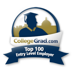 CollegeGrad Top Entry Level Employer badge