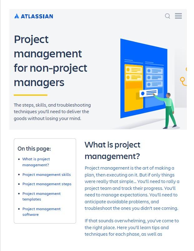 Atlassian Project management guide
