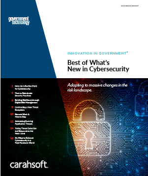 GovTech Cybersecurity report cover