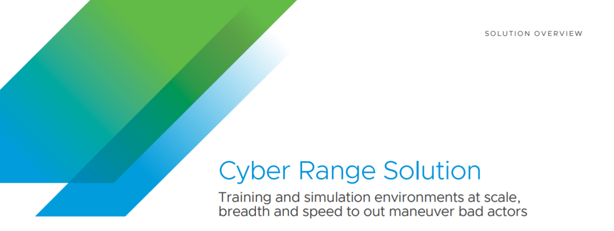 VMware Cyber Range Solution Brief