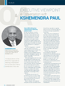 Executive Viewpoint: A Conversation with Kshemendara Paul