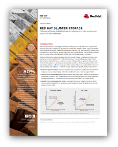 Red Hat Gluster Storage report preview