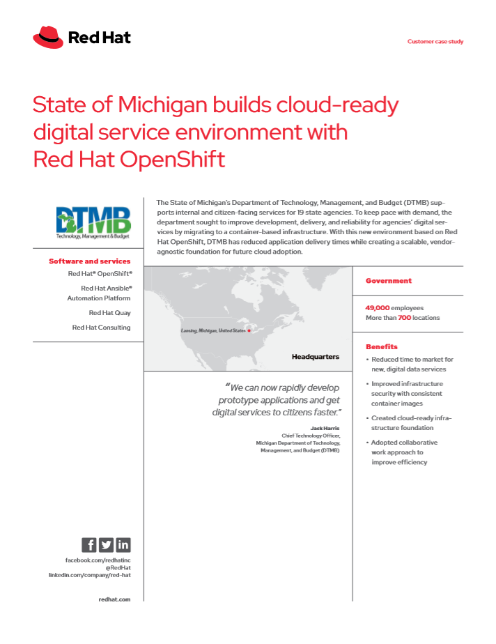 State of Michigan Graphic