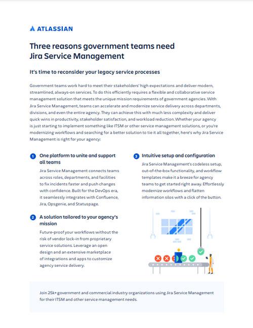 Three Reasons Government Teams Need Jira Service Management
